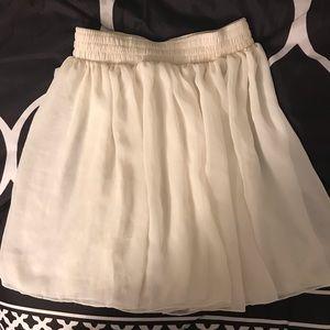 American apparel sheer white skirt